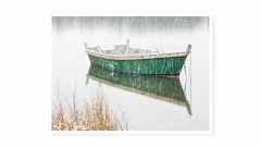 Green-Boat-and-Snow