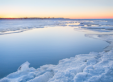 Winter Sunset at Paine's Creek by John Tunney