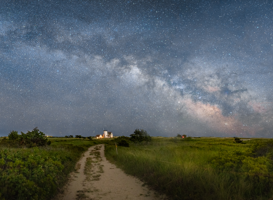 Milky Way Over Stage Harbor Light, Chatham