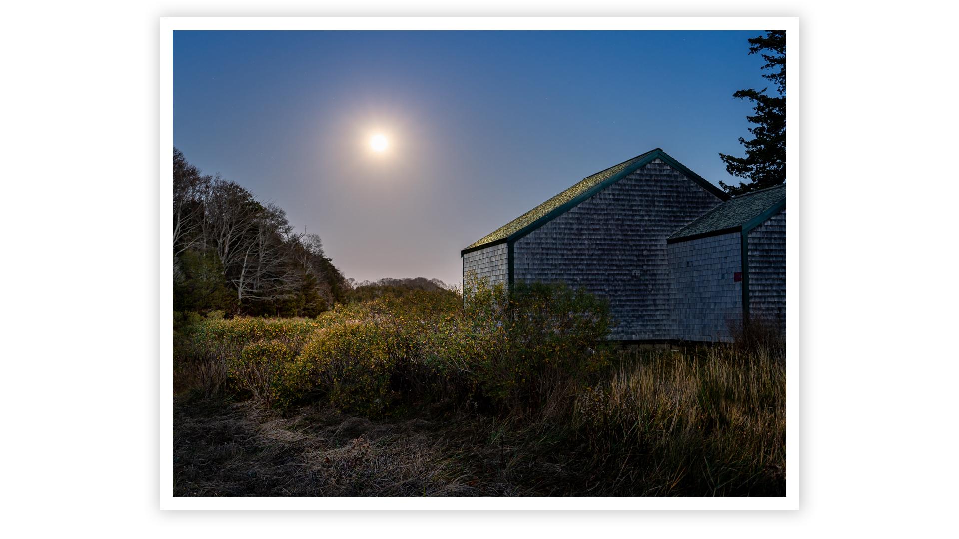 Moonrise at Salt Pond by John Tunney